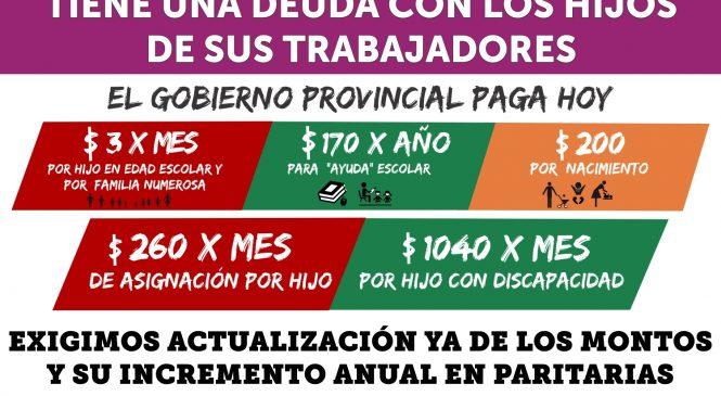 Campaña por el AUMENTO YA DE LAS ASIGNACIONES FAMILIARES