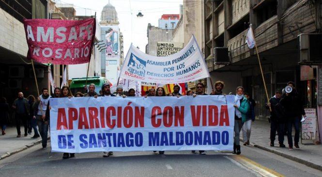 Rosario se movilizó por la aparición de Maldonado