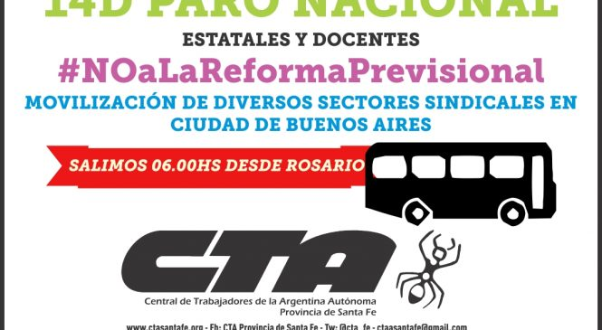 14D: Crece jornada de paro y lucha contra reforma previsional