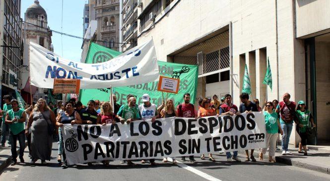 15F: Una multitud marchó en Rosario contra el ajuste