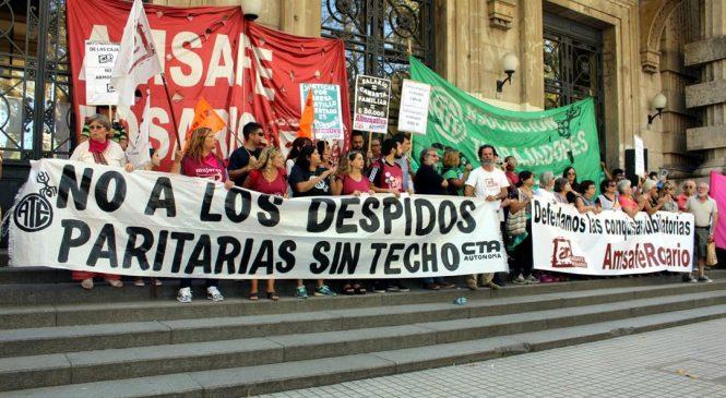 Marcha de docentes y estatales este miércoles