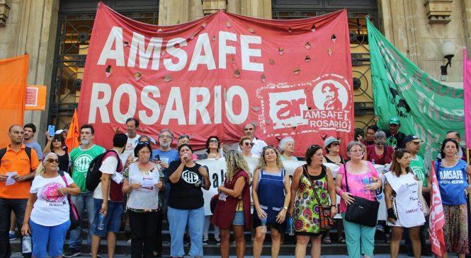 Estatales se manifestaron por salarios y condiciones dignas de trabajo