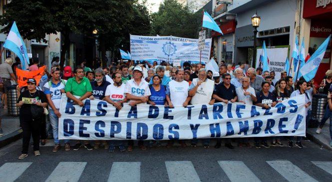 Rosario se embanderó contra el ajuste y los tarifazos