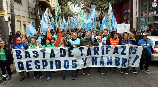 #ParoNacional: la lucha obrera inundó las calles rosarinas