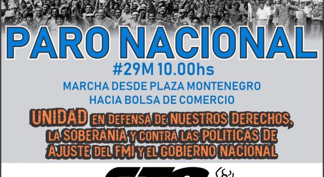 """El pueblo se moverá por """"otro 29"""""""