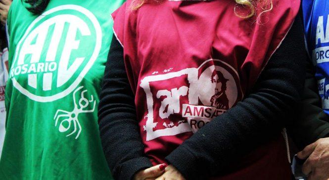 Gremios marcan la cancha: ATE y Amsafe Rosario anuncian medidas