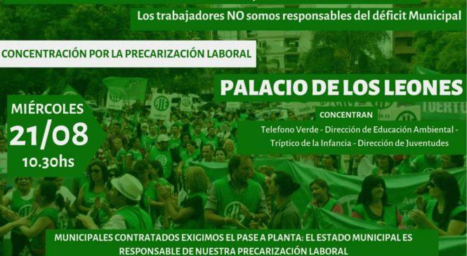 Precarizadxs municipales protestan este miércoles