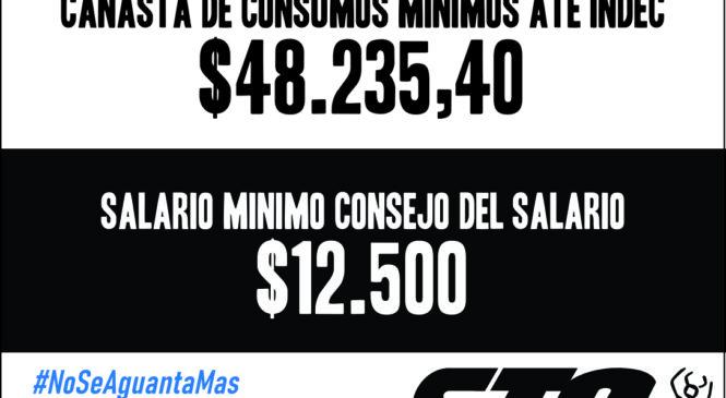 El salario mínimo debería ser $48.235,40