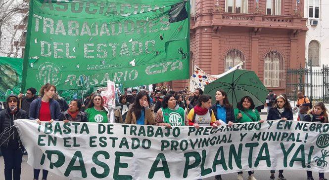 Rosario movilizada durante la jornada nacional de lucha