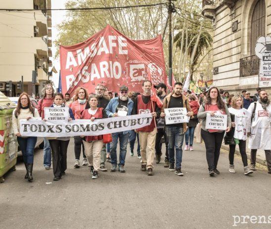 Todxs somos Chubut: paro, marcha y acto en Rosario