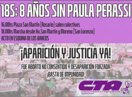 Marcha a 8 años de la desaparición de Paula Perassi