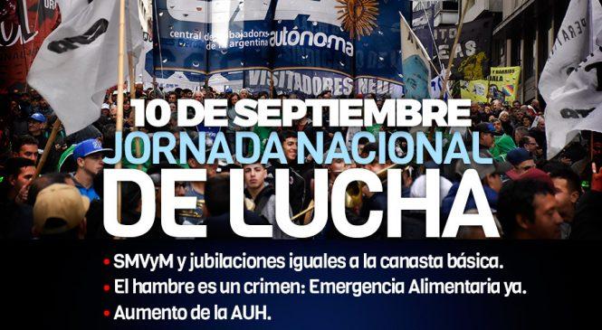 Camino a la jornada nacional de lucha el 10 de septiembre