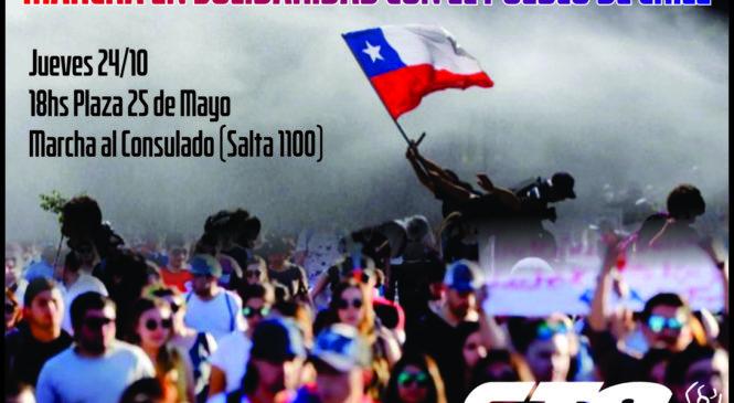 Movilizamos en solidaridad con el pueblo Chileno
