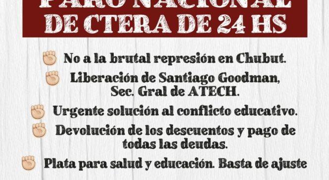 CTAA Rosario repudia represión en Chubut y se suma a marcha este viernes