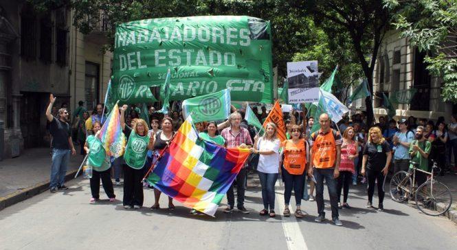 Marcha por salarios y condiciones de trabajo