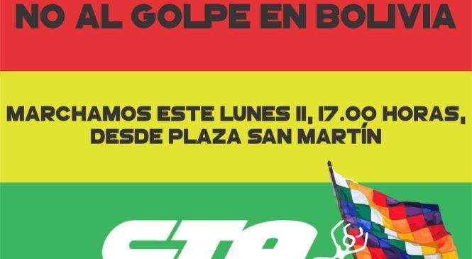 CTAA Rosario repudia golpe en Bolivia y marcha esta tarde