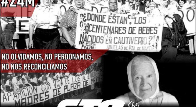 24M: por Memoria, Verdad y Justicia
