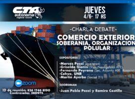"""Charla debate virtual """"Comercio exterior, soberanía, organización popular"""""""