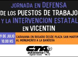 #9J Jornada en defensa de los trabajadores de Vicentín