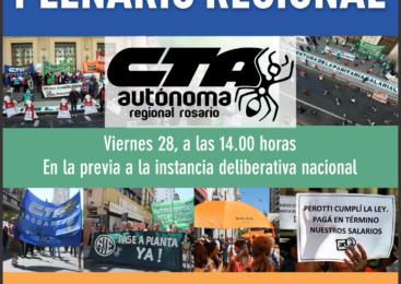 Plenario de la CTA Autónoma Regional Rosario