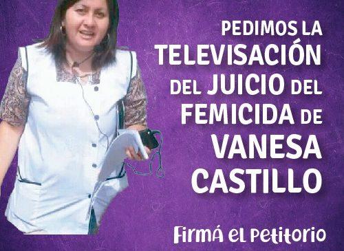 Televisación del juicio oral y público por el femicidio de Vanesa Castillo