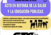 10N: paro en salud y educación
