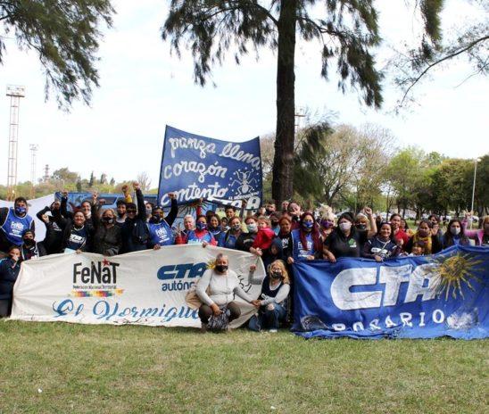 Enorme plenario de FENAT- CTAA Regional Rosario